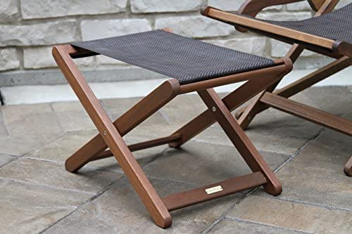 Cool Outdoor Interiors Sling And Eucalyptus Ottoman Stool Pdpeps Interior Chair Design Pdpepsorg