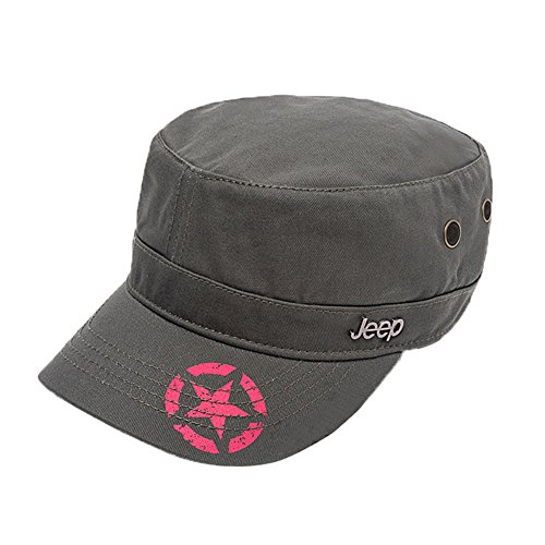 Jeep Unisex Star Print Adjustable Military Cap Hat (Olive Green, Free (Military Jeep Caps)