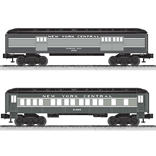 Lionel New York Central Coach/Baggage Baby Madison Passenger Car (2 Pack)