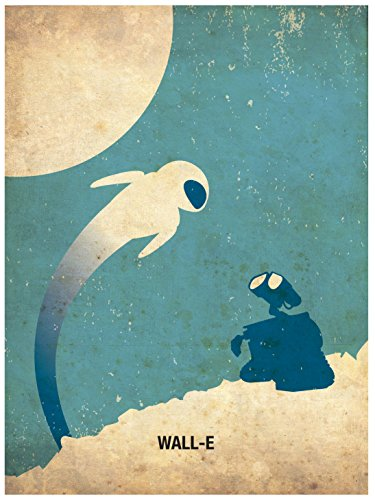 OHMYPOSTER Wall-E Minimalist Poster - E Wall Poster