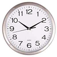 """Quartz """"silent tick"""" Wall Clock- ideal for use in the office, home or kitchen. Quality quartz movement means the clock is very accurate. The silent sweep means none of that annoying ticking!"""