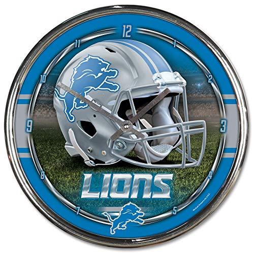NFL Detroit Lions Chrome Clock, 12