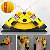 Portable Horizontal Vertical 90° Laser Chalk Lines Projection Meter Right Angle Measurment Working Tool Square Level Square (5-degree increments) for woodworking wall fixtures stencilling