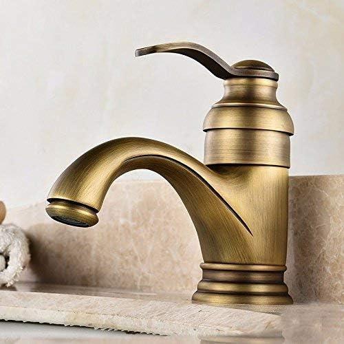 HXC-HXC キッチンのシンクの蛇口のミキサーの浴室キッチン洗面の蛇口防水保存アンティークコッパー黒のフルホット&コールドのみホール 蛇口