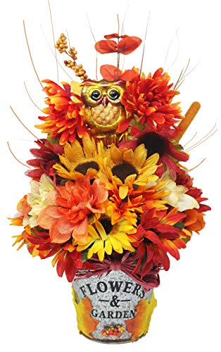 Autumn Floral Bouquet Centerpiece, Perfect for Gift Giving, or add as a Fall Decoration Made with an Assortment of Faux Flowers.