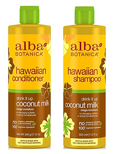 alba-botanica-drink-it-up-coconut-milk-hawaiian-duo-set-shampoo-and-conditioner-12-ounce-bottle-each