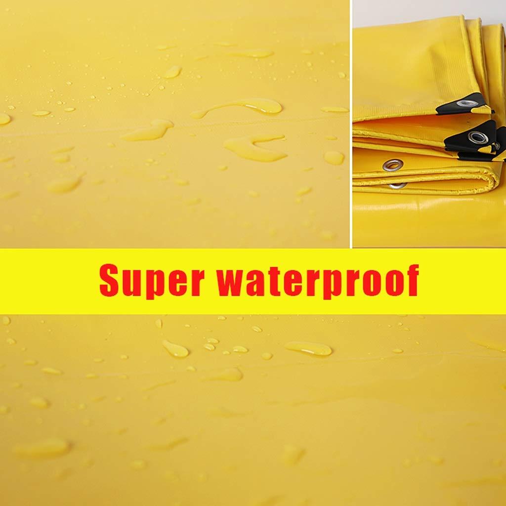 Telone impermeabile esterno ispessito ad alta densità tessuto tessuto tessuto prossoezione solare a prova di pioggia, antipolvere tenda telone giallo, pesca giardinaggio, varie dimensioni (dimensioni   6  9m) B07HNZPW87 69m | Fine Anno Vendita Speciale  | 2019 Nu cb485b