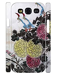 Custom Vivid Colorful Florals Handmade Phone Protective Case for Samsung Galaxy S3 I9300 by supermalls