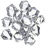 "Homeford FPF0750407CL 150 Piece Acrylic Ice Rocks Crystal Vase Filler, 1"", Clear"