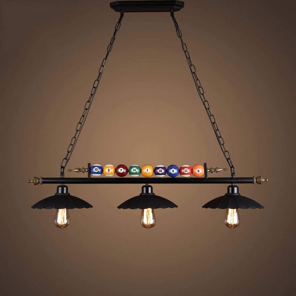 Lámpara de techo LIL, Rtro Industrial Style Black Bar Dner Lámpara ...