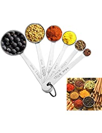 Take Accmor 11-Piece Stainless Steel Measuring Spoons/Cups Set - Premium Stackable Tablespoons Measuring Set for Dry... discount