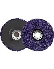 NACTECH 2pcs Disco Abrasivo de Policarburo 125mm Discos Abrasivos Amoladora para Quitar Pintura y Limpieza Herrumbre