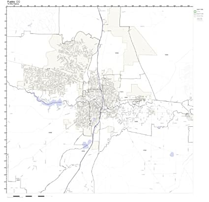 Amazon.com: Pueblo, CO ZIP Code Map Laminated: Home & Kitchen