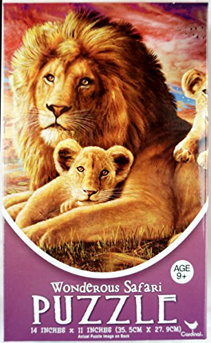 New Wonderous Sahara Jigsaw Puzzle – Beautiful Colorful 500 Piece African Picture With a Lion And His Cubs On The Savanah
