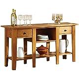 Steve Silver Company Liberty Sofa Table, Oak, 58 x 16 x 30