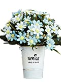 CL Artificial Fake Silk Rose Sunflower Gerbera With Iron Pot For Home Kitchen Garden Living Room Hotel Office Party Decorations Or As Festival Birthday Gift (Color 10)