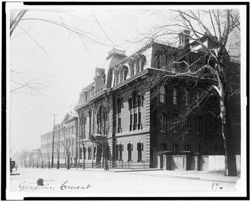 Georgetown Exterior Wall - HistoricalFindings Photo: Exterior,Education,Georgetown Visitation Preparatory School,Washington DC,1890
