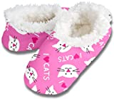 Snoozies! I Heart Cats Women's Sherpa Footcoverings - Medium