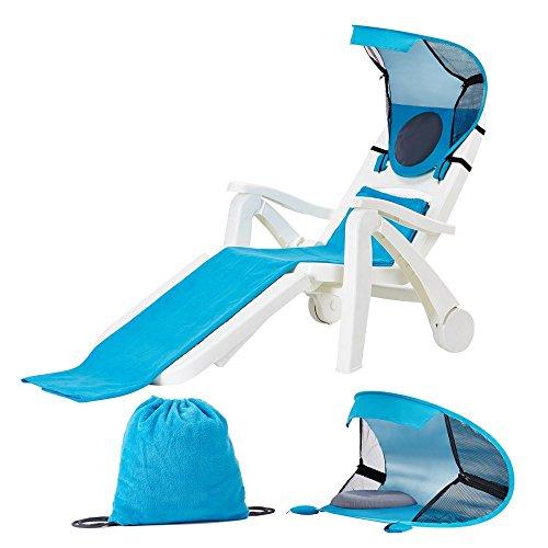 Portable Beach Chair Sunshade with Beach Towel Backpack, ...