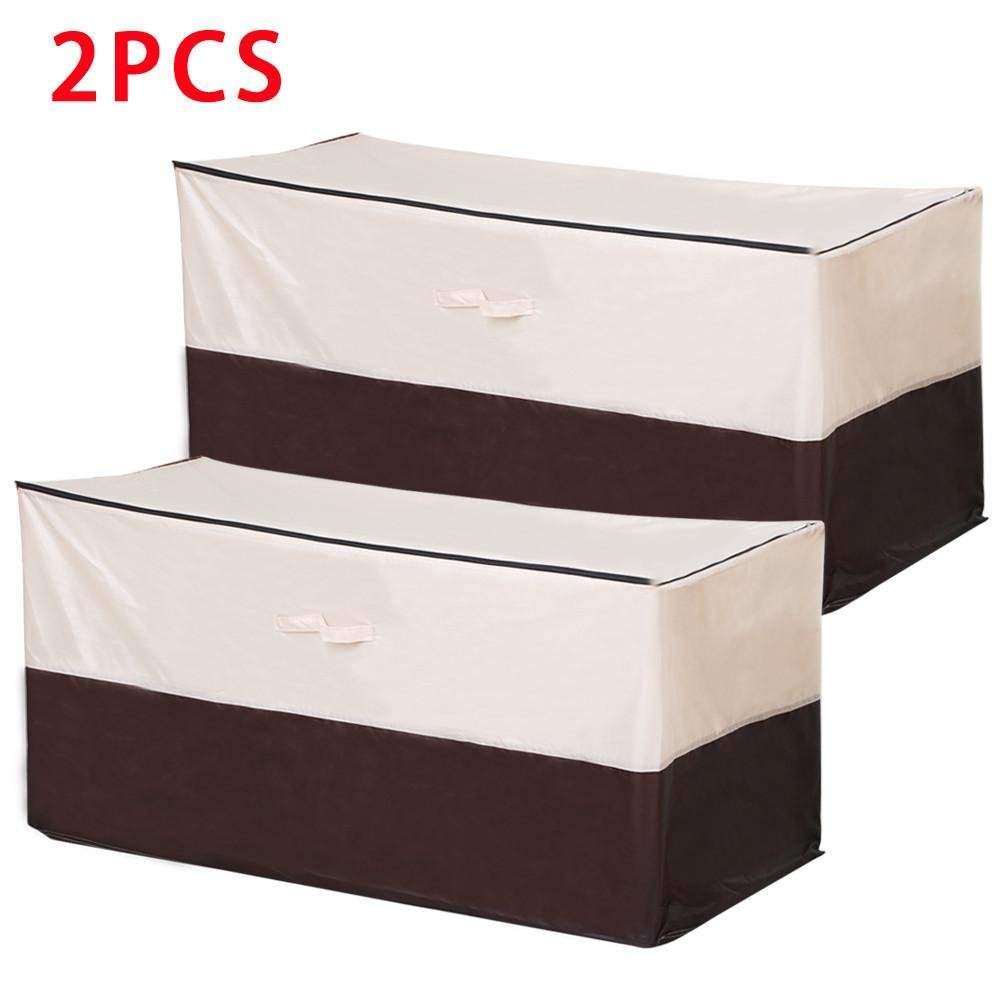go2buy Waterproof Dust-proof Patio Cushion Bench Furniture Protective Cover Storage Bag, Set of 2, Outdoor, Beige with Zipper, Rain Proof