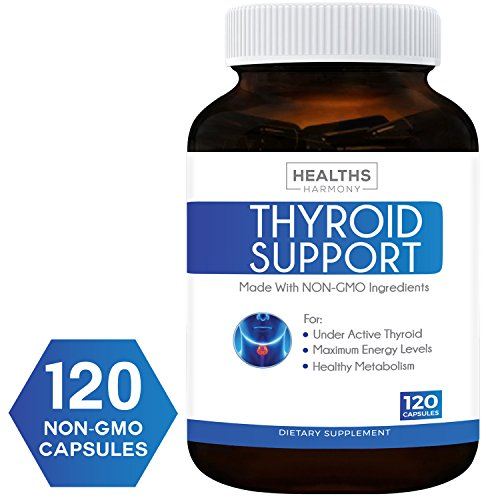 Best Thyroid Support Supplement (NON-GMO) 120 Capsules: Improve Your Energy & Increased Metabolism For Weight Loss – Iodine & Ashwagandha Root for Thyroid Health – 100% Money Back Guarantee