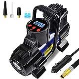 Portable Mini Air Compressor Pump-DC 12V Digital Tire Inflator Tire Pump for Car, 140W 150 PSI