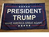 50 pcs POLYESTER 3'x 5' , PRESIDENT TRUMP INAUGURATION FLAG FLAGS MAKE AMERICA GREAT AGAIN DONALD BLUE