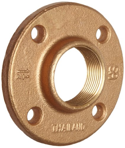Brass Pipe Fitting, Class 125, Floor Flange, 1/2