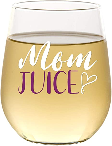 Mom Wine Cup Mom Christmas Gift Mommy Juice Because Kids Wine Glass Gift for Mom Funny Mom Gifts Mom Wine Glasses