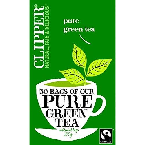(10 PACK) - Clipper Green Tea - Organic & Fairtrade| 50 Bags |10 PACK - SUPER SAVER - SAVE MONEY