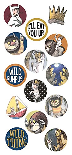 Paper House Productions STP-0064E Puffy Sticker, Where the Wild Things Are (Wild Things Sticker Sheet)