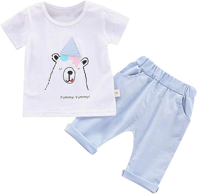 Baumwolle Bekleidung für Kinder Baby Junge Süß Sommer Weste Oberteile Hosen