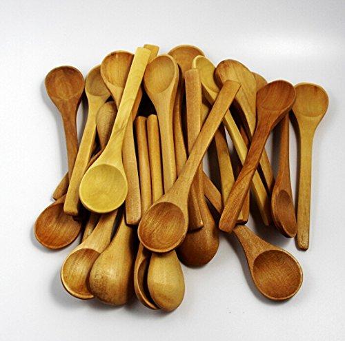 CHENGYIDA Mini Wood Scooper Tea Spoon 5