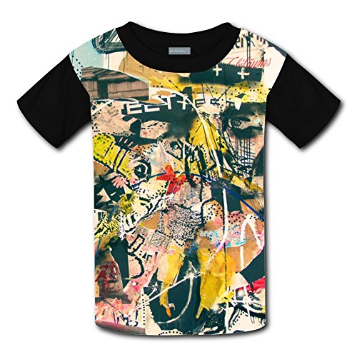 Qualra Kids Fashion Graffiti Abstract Art 3D Print T-Shirts Short Sleeve Tees
