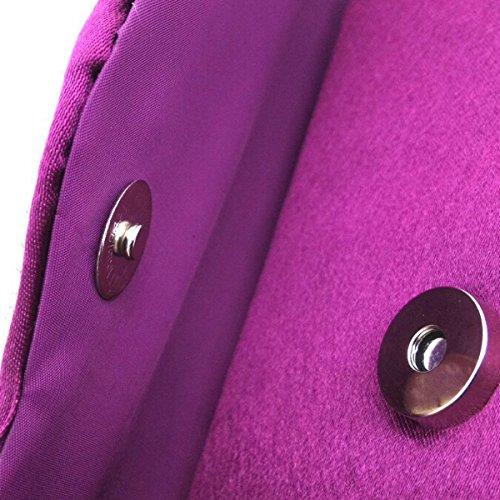 Sacchetto Grey A Tracolla Multicolore Sera Donne Pieghe A Borsa Pochette Strass Di 8nRfIRZw