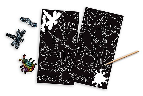 Scratch Art Stickers Pack FREE Melissa /& Doug Scratch Art Mini-Pad Bundle 58254 Bugs /& Critters