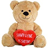 Hollabears Shawty U Fine As Shit Tho Teddy Bear - Funny and Cute for Girlfriend, Boyfriend or Best Friends