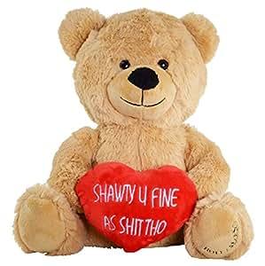 amazon com hollabears shawty u fine as shit tho teddy bear
