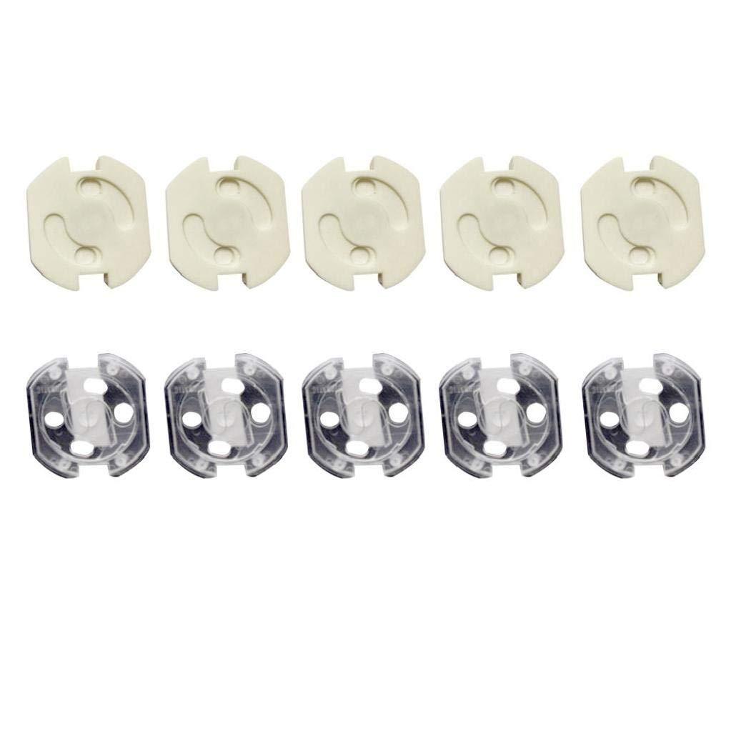 IUwnHceE Outlet-Plug-Abdeckungen Baby-Proofing Elektroschutzkappen Kit Robuste Stecker-Schutz-Abdeckung F/ür Kind 10pcs EU-Norm