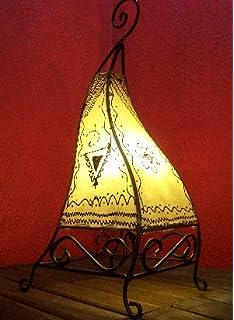 Orientalische Marokkanische Stehlampe Leder Lampe Hennalampe Lederleuchte Marrak
