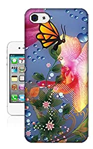 Jakerobinson colorful butterfly TPU phone case for Iphone 4 4s