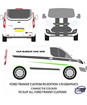 Ford Transit Custom Full Racing Stripes Graphics Stickers Rs