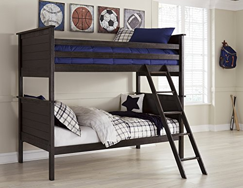 Signature Design by Ashley B521-59P Jaysom Bunk Bed Panels, Twin, Black