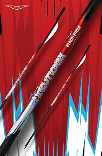 Black Eagle Executioner Crossbow Fletched Carbon Arrows/Bolts - 20/.001-6 Pack