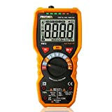 PM19 6000 Counts TRUE RMS Digital Multimeter, Auto-Range DDM with thermocouple, AC Voltage Tester, Voltage Alert, Amp/Ohm/Cap Multi Tester/Diode and Continuity Test HZ with Backlight LCD Display