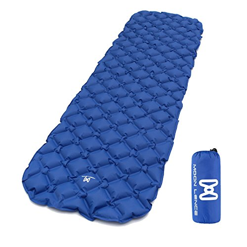 Moon Lence Sleeping Pad Compact Camping Backpacking Air Pad Lightweight Inflatable Sleeping Mat Portable Hiking Mattress