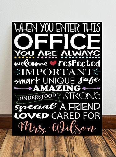 When You Enter This Office Canvas Sign