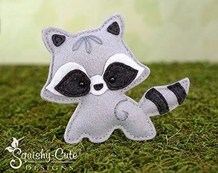 Amazon Raccoon Sewing Pattern Woodland Stuffed Animal Felt