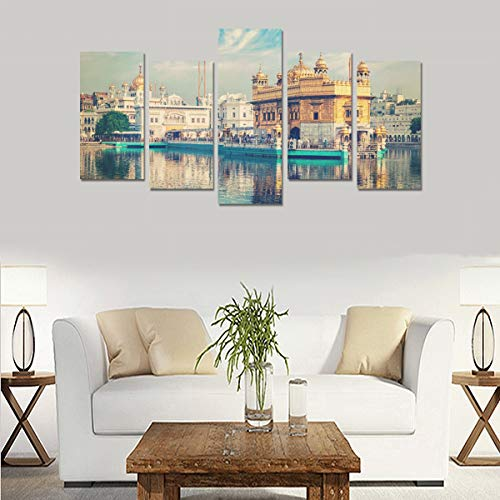 (Golden Temple In Amritsar Punjab India (no Frame)canvas Print Sets Wall Art Picture 5 Pieces Paintings Posters Prints Photo Image On Canvas Ready To Hang For Living Room Bedroom Home Office Wall Decor)