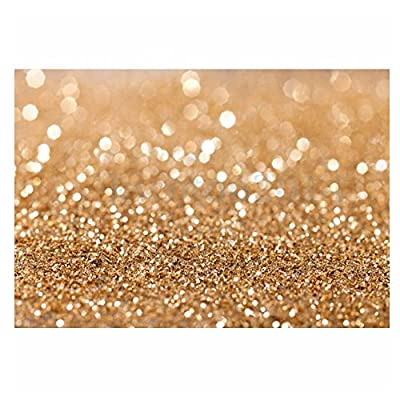 5x7ft Vinyl Cloth Computer Printed Bokeh Gold Glitter Sequin Spot Backdrop Children Newborn Photography Backgrounds Studio Prop Grade AAAAA